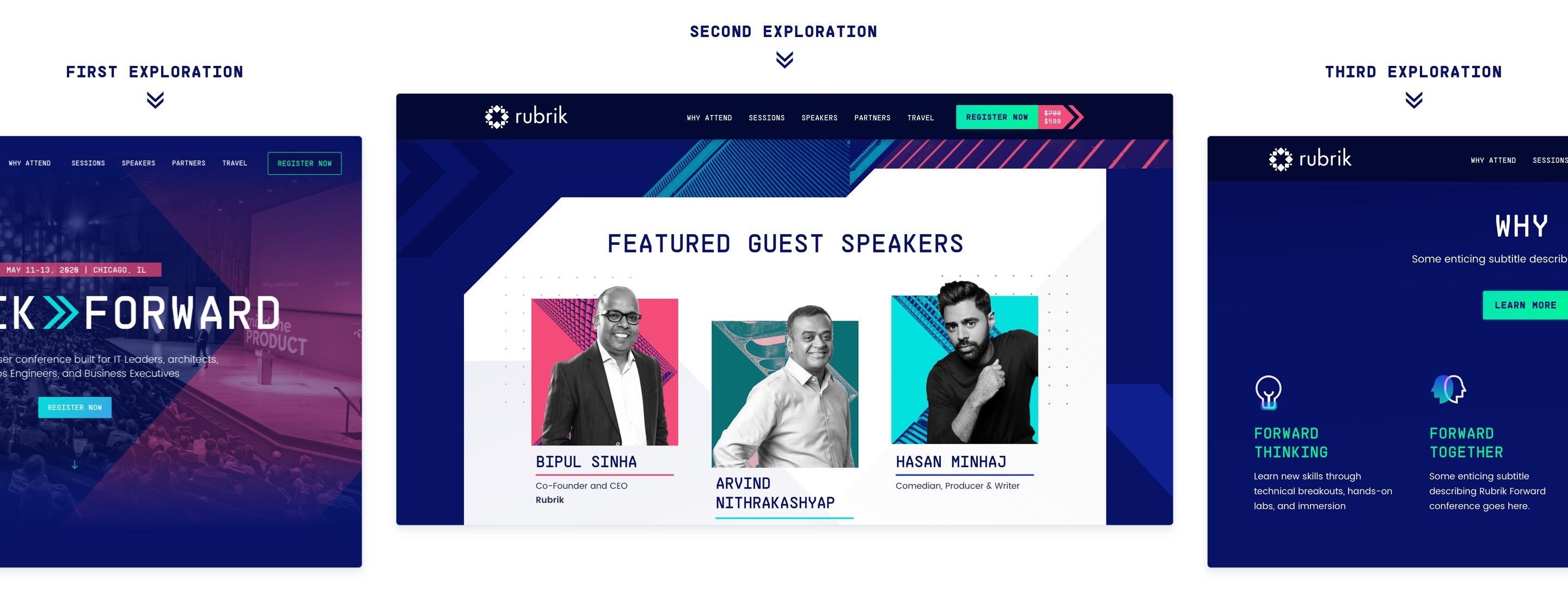 rubrik forward digital summit early explorations of the look and feel