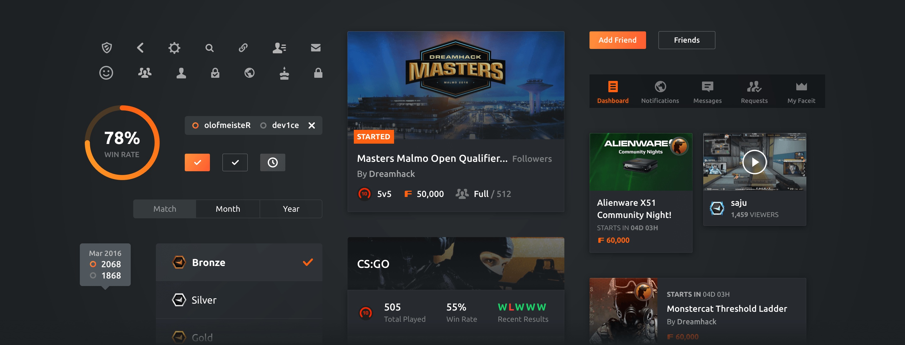 FACEIT • iOS and Android App design | by Pixelmatters
