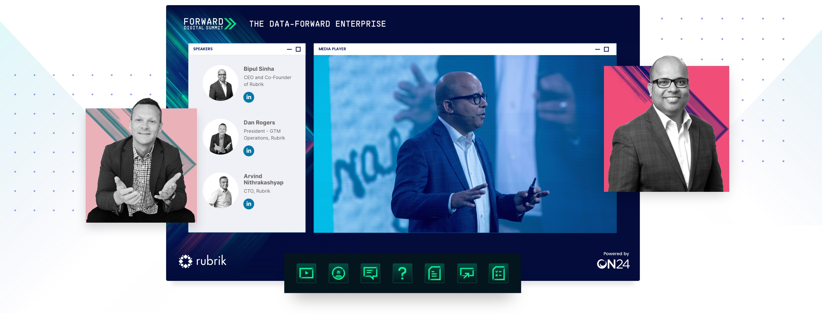 representation of rubrik forward digital summit online experience