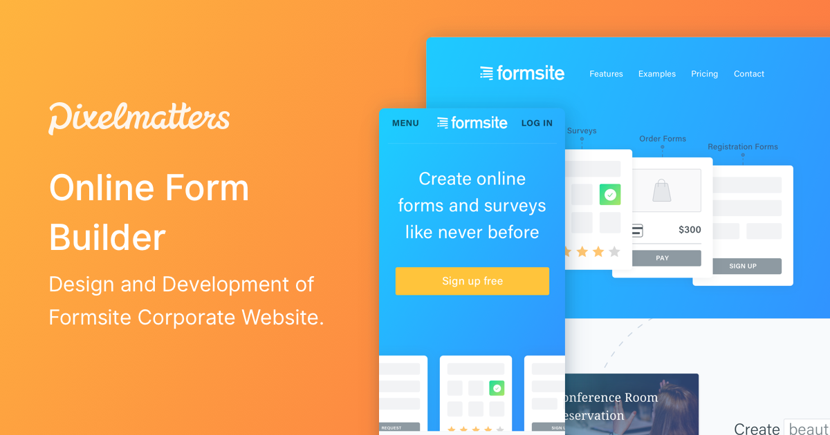 Formsite • Corporate Website design & development | by
